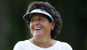 PITTSFORD, NY - JUNE 23: Nancy Lopez smiles as she walks off a green during a practice round prior to the start of the LPGA Championship presented by Wegman's 2010 at the Locust Hill Country Club on June 23, 2010 in Pittsford, New York (Photo by Scott Halleran/Getty Images) *** Local Caption *** Nancy Lopez